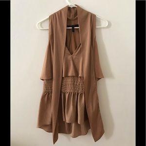 BCBG Silk dress top
